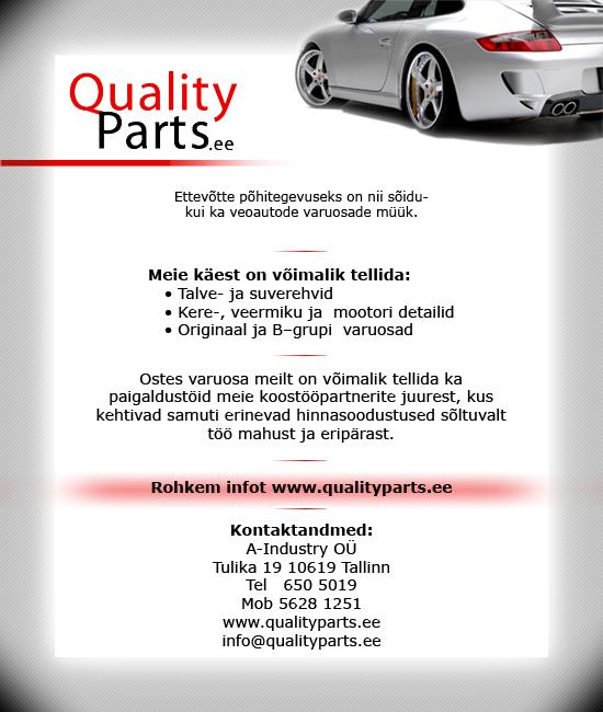 spam Sõidu- ja veoautode varuosad Qualityparts.ee