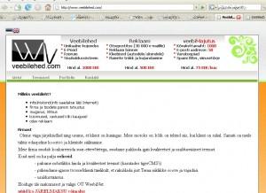 veebilehed.com on spam kirjade vahendaja weebinet 11525993