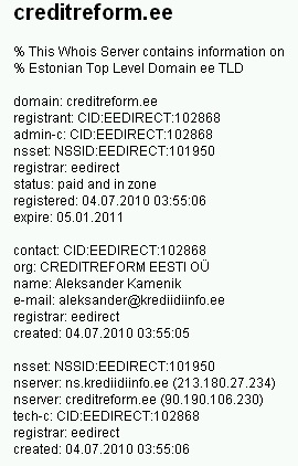 creditreform.ee whois krediidiinfo