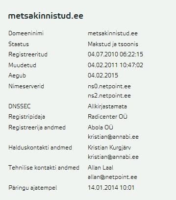 Abola OÜ metsakinnistud.ee
