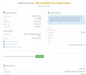 websitecare.eu uus omanik