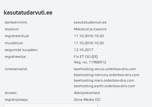 Ain Vari spam domeen kasutatudarvuti.ee