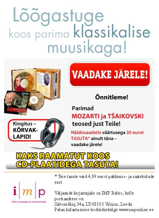 IMP Baltic kahtlaselt odavad plaadid ja raamat koos kõrvaklappidega. Tasuta juust on vaid hiirelõksus!