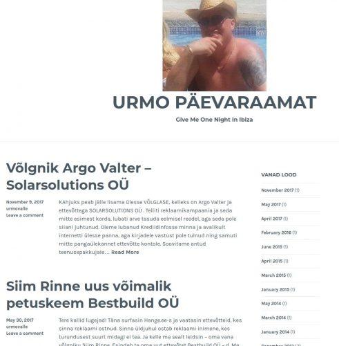 Pikksilm Meedia OÜ kliendid muutuvad Urmo Mark blogis võlgnikuks, keda küberkiusatakse.