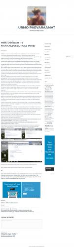 Urmo Mark avaldas oma blogis kliendi kohta hinnangu muidusööja, sest nende Norra äri olnud õnnestunud.