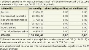 personalikonverentsid tasumata maksud