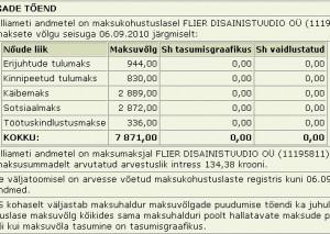 flier disainistuudio maksuvõlg