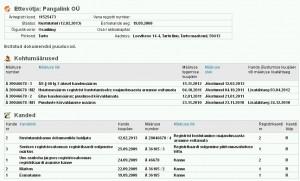 Pangalink OÜ Hoiatusmäärus registrist kustutamiseks: majandusaasta aruanne esitamata