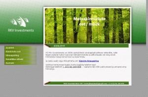 OÜ RKV Investments (11231688) ja metsakinnistud.ee esileht