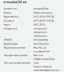 e-moobel24.ee whois